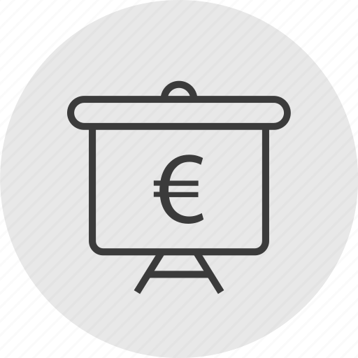 board, circle, currency, euro, teach, wealth icon