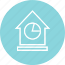 chart, home, house, pie icon