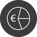 chart, currency, euro, pie, wealth icon