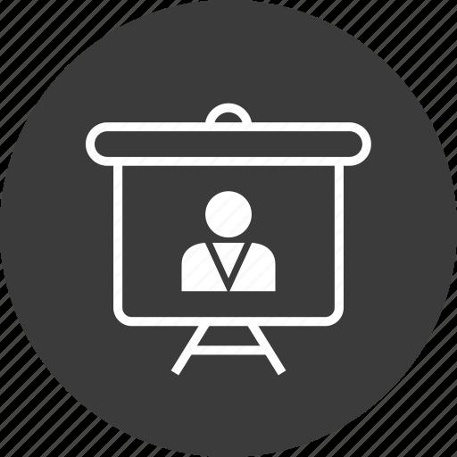 board, important, profile, teach, user icon