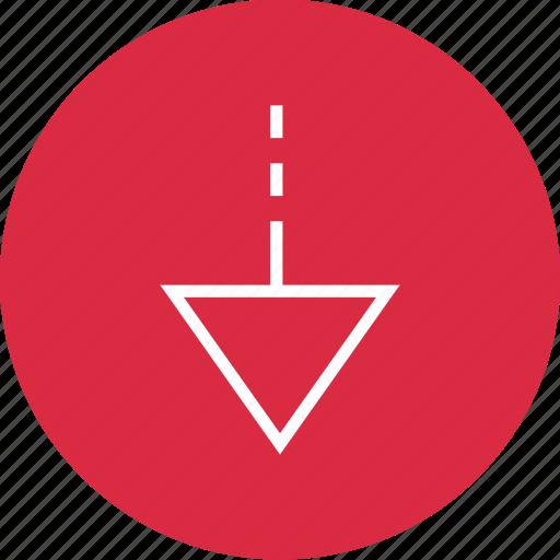 arrow, down, download, nav, navigation, point, ui icon