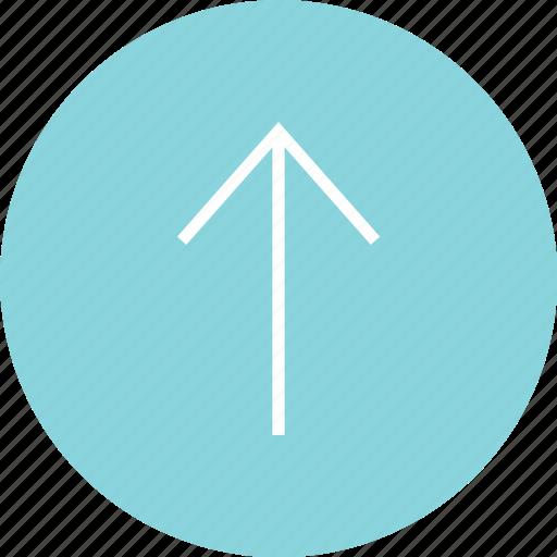 arrow, good, nav, navigation, ui, up, upload icon