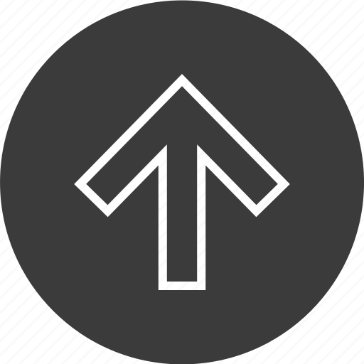 arrow, nav, navigation, point, ui, up, upload icon