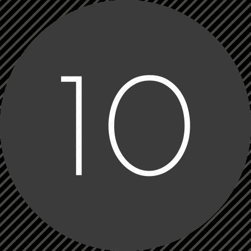 nav, navigation, number, ten, ui icon