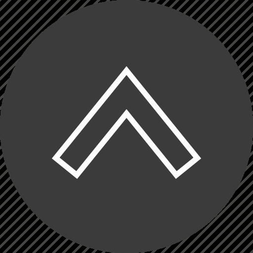 nav, navigation, point, ui, up, upload icon