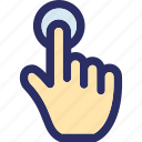 finger touch, hand gesture, hand pointing, hand touch, hand touching icon