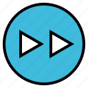 arrow, audio, forward, music, next icon