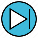 arrow, audio, music, next, sound icon