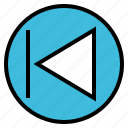 arrow, audio, music, previous, sound icon