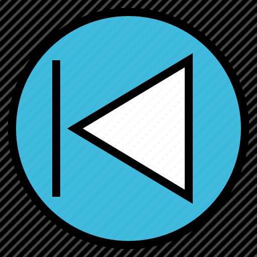 arrow, audio, music, previous, sound icon