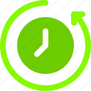 arrow, backup, queue, restart, time icon