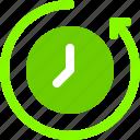 backup, time, queue, arrow, restart