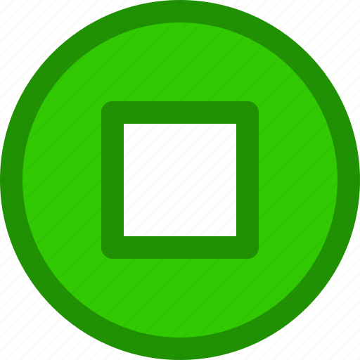 circle, hold, music, playlist, stop icon