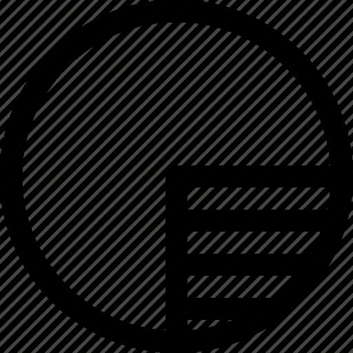chart, disk, pie, size, storage icon