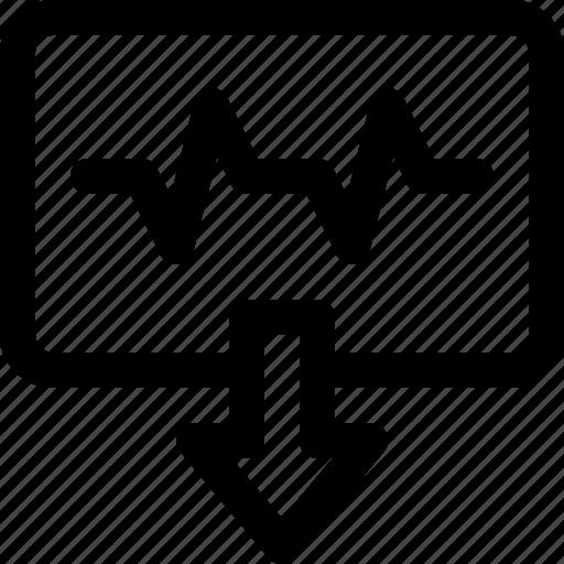 arrow, download, internet, status, website icon