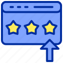 arrow, click, rating, star, website icon