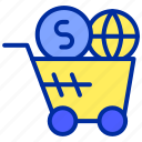 buy, cart, commerce, e, online, shopping icon