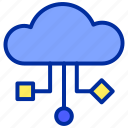 cloud, files, internet, storage, website icon