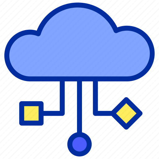 cloud, files, internet, storage, website icon