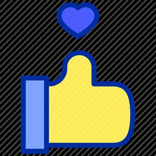 facebook, heart, like, love, thumb, up icon