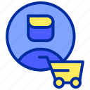 buy, cart, costumer, online, shopping icon
