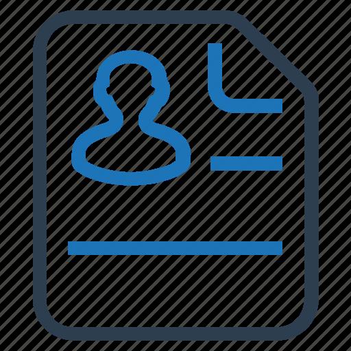clipboard, curriculum, cv, information, portfolio, profile, resume icon