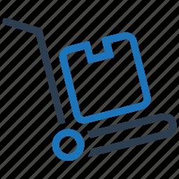 cart, hand truck, handcart, luggage, platform truck icon