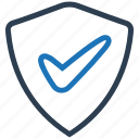 brand protection, checkmark, guard, protection, safety icon