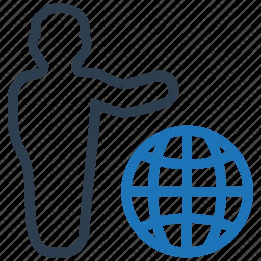business communication, businessman, global business, leader, web user icon