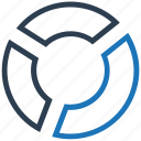 pie chart, pie graph, statistics icon