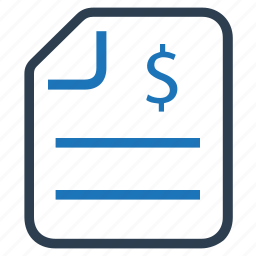 invoice, money, payment, profit, report icon