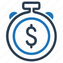 budget, dollar, money, time icon