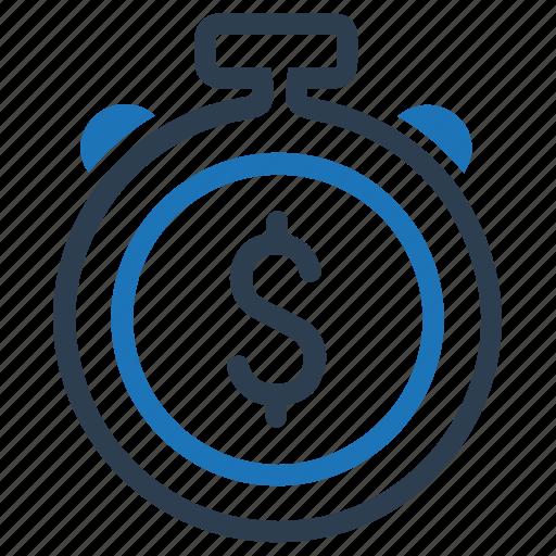 budget, dollar, money, time icon