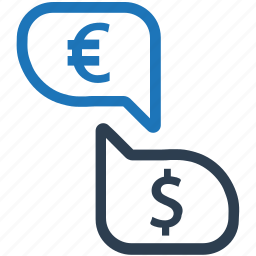 conversion, converter, currency exchange, dollar, euro icon