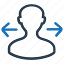 business, direction icon