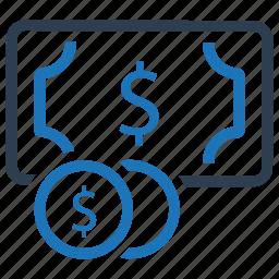 cash, dollar, earnings, finance, money icon