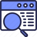 application, marketing, search, zoom icon