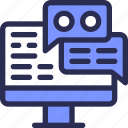 chat, computer, marketing, message, pc icon