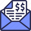 bill, email, invoice, marketing, receipt icon