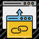 backlink, chain, hyperlink, link icon