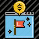 acquisition, cost, per, cpa icon