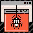 crawler, horror, spider, spiderweb icon