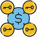 money, paid, sign, traffic icon