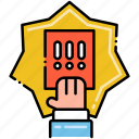 banking, card, finance, penalty icon