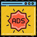 ads, advertising, pop, ups icon
