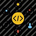 art, design, markup, schema icon