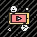 contact, interface, list, menu, navigation, player icon