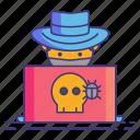 bug, hat, marketing icon