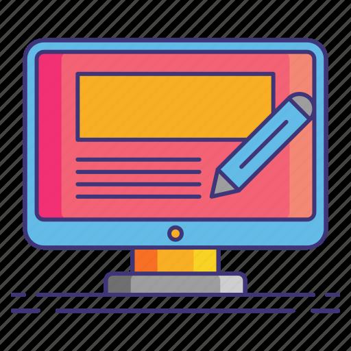 blog, management, marketing icon