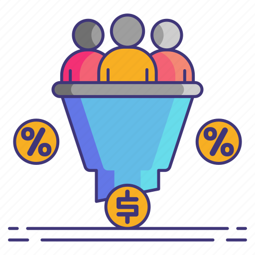 conversion, marketing, rate icon